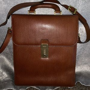 Authentic Bally leather women's suitcase/work case